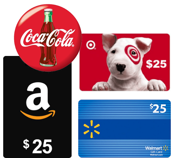 Free $25 Amazon, Target, Walmart Gift Card Instant Win