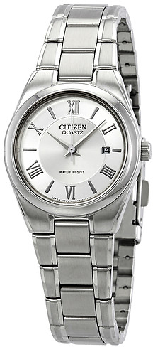 Citizen Silver Dial Ladies Watch + Ships Free