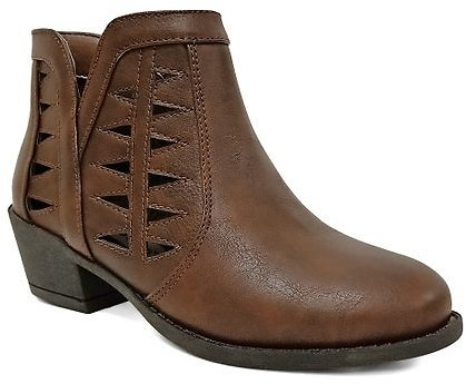 Jelly Beans Brown Action Boot - Girls
