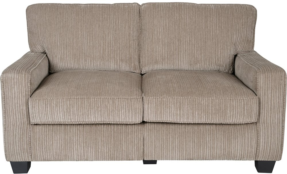 Serta RTA Santa Cruz Collection 61- Inch Loveseat Beige CR43529