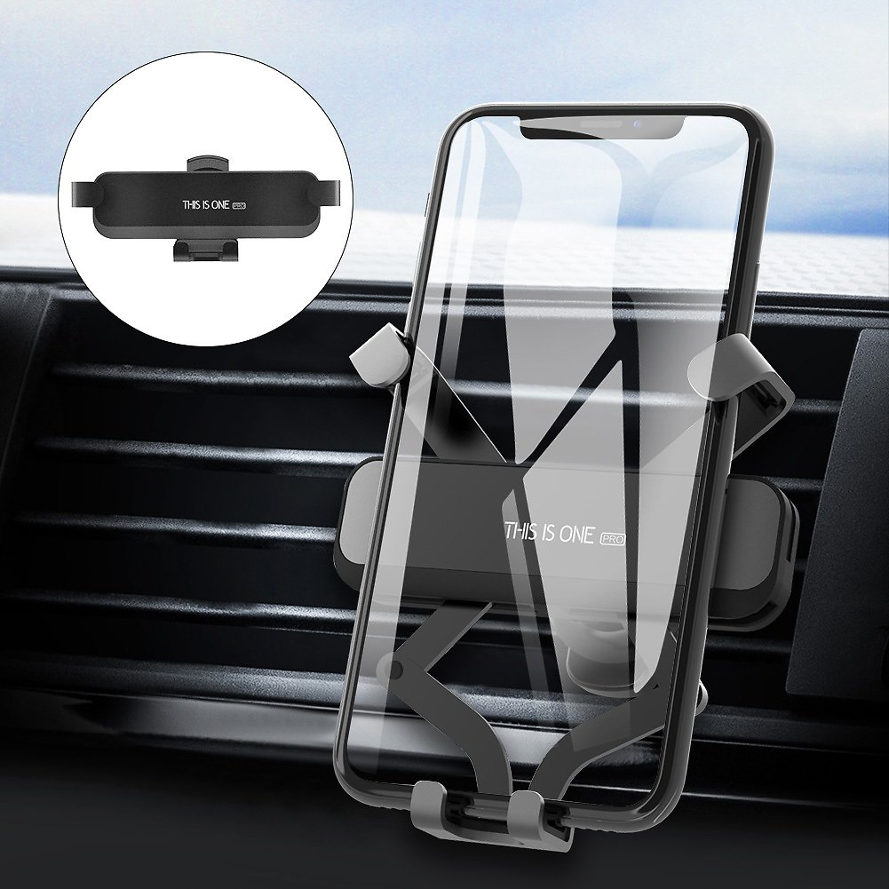 Car Phone Mount, Vehicle Air Vent Phone Clip Holder, GPS Cell Phone Holder for Car, Gravity Auto-Clamping Cradle Compatible with IPhone Xs Max XR X 8 8P 7 7P 6S 6P 6, Samsung Galaxy, Google, LG: Cell Phones & Accessories