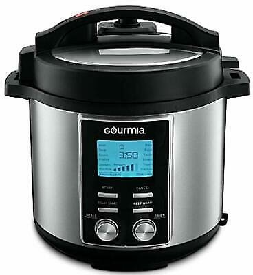 Gourmia 1200W 8 Qt. Capacity 14-in-1 Stainless Multi-Mode Pot Pressure Cooker 816425021878