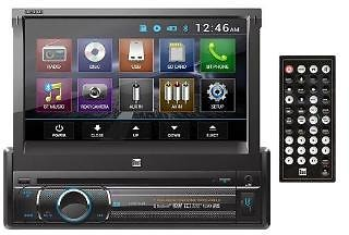 Dual Dual Bluetooth 7 Inch Motorized Touch Screen Dvd/cd/mp3/am/fm Front 1a Usb