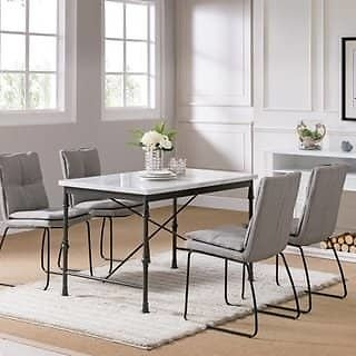 Carbon Loft Ivan Faux Marble Dining Table