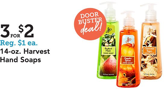 In-Store Only! 14-Oz Harvest Hand Soaps
