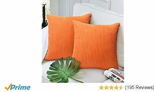 Decorative Throw Pillows Covers Velvet Corduroy Cushion Cover Pillowcase Home Decor for Sofa Couch Bed Chair