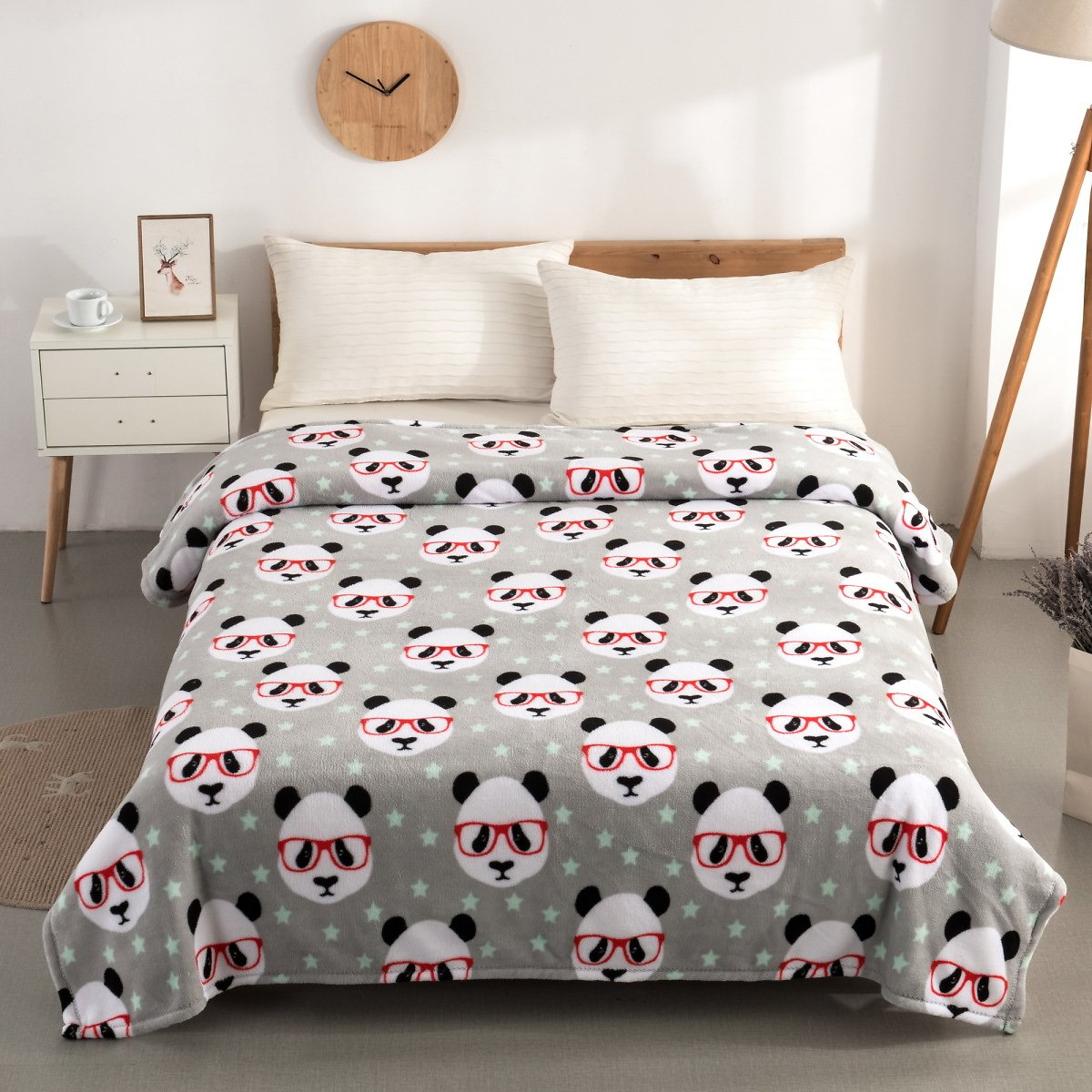 Plush Twin Panda Bed Blanket By Mainstays