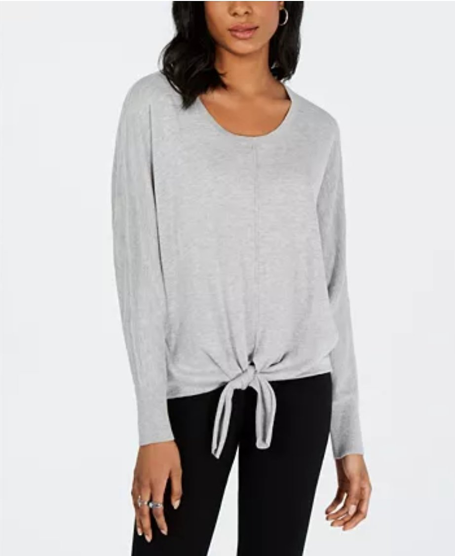 Tie-Hem Sweater, Created for Macy's