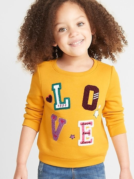 Relaxed Crew-Neck Sweatshirt for Toddler Girls | Old Navy