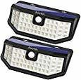 Aootek Solar Powered Motion Lights 2-Pack