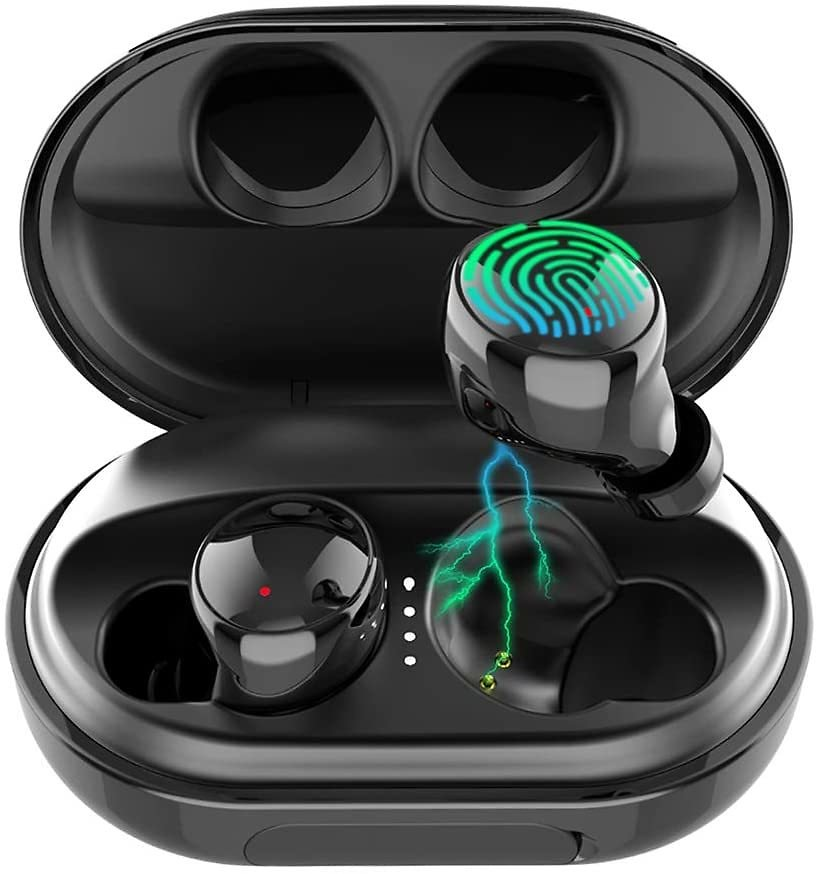 Wireless Earbuds Bluetooth 5.0 Headphones, 120H Playtime Deep Bass Stereo Sound Earbuds with Microphone