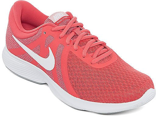 Nike Revolution 4 Womens Lace-up Running Shoes (Ember Glow Wht Gry)