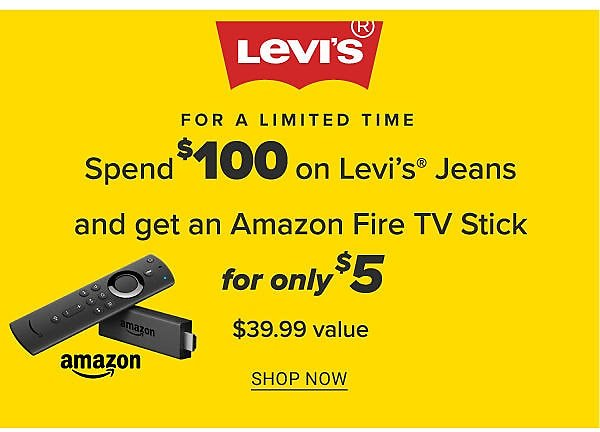 Get Amazon Fire Stick W/ $100 Levi's Jeans Purchase | Belk