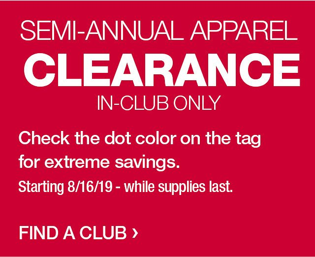 In-Store Only! Semi-Annual Clearance Sale - BJ's Wholesale Club