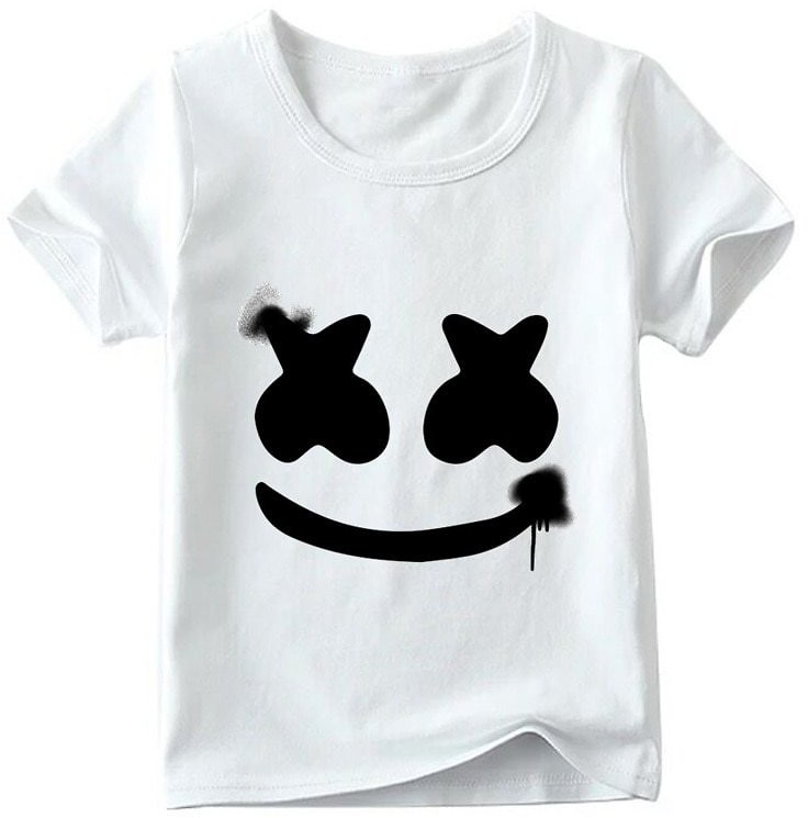 Children Dj Marshmello Hipster T Shirt Baby Boys/girls Summer Top Short Sleeve T Shirts Kids Fashion Casual Clothes, Ooo2401