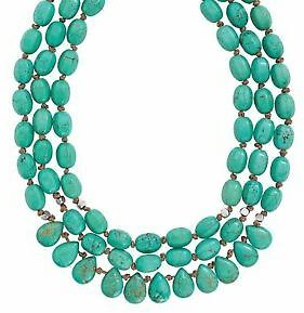 Silpada 'Drops of The Ocean' Natural Howlite 3-Strand Necklace, Silver, 18