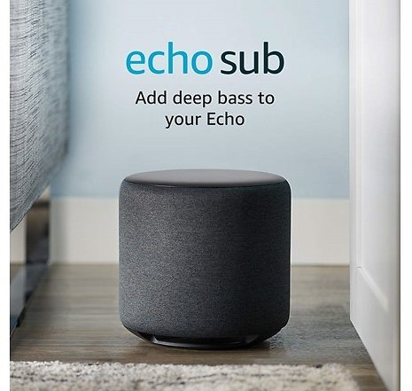 Amazon Echo Sub Amazon Echo Sub - Powerful Wireless Subwoofer for Your Echo - Requires Compatible Echo Device