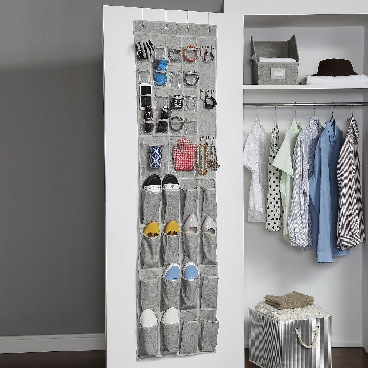 Better Homes & Gardens Charleston Collection Over The Door Shoe and Accessory Organizer