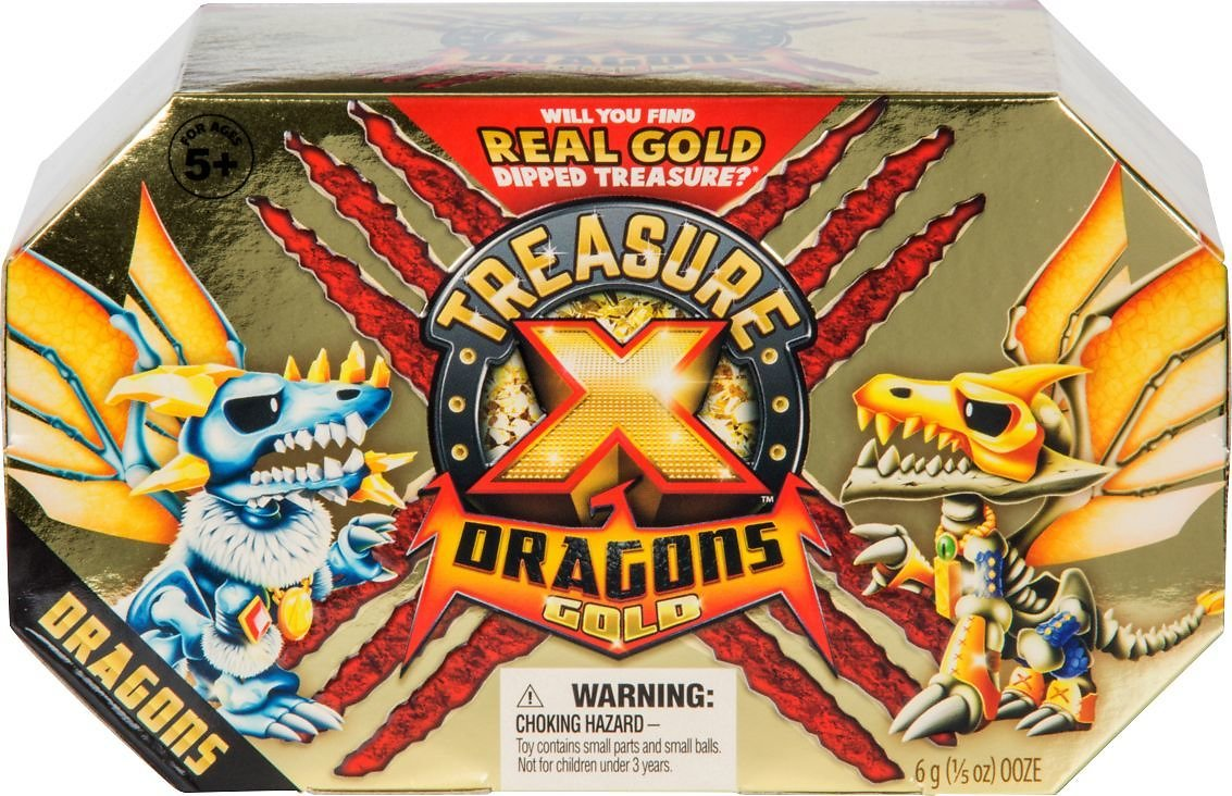 Treasure X Quest for Dragons Gold Dragon Pack Blind Box Styles May Vary 41508