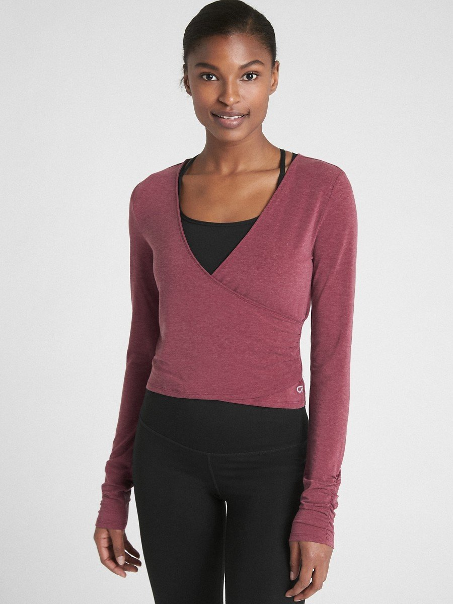 GapFit Breathe Long Sleeve Wrap Top