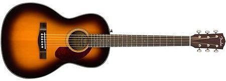 Fender CP-140SE Acoustic-Electric Guitar with Case - Parlor Body Style - Sunburst Finish