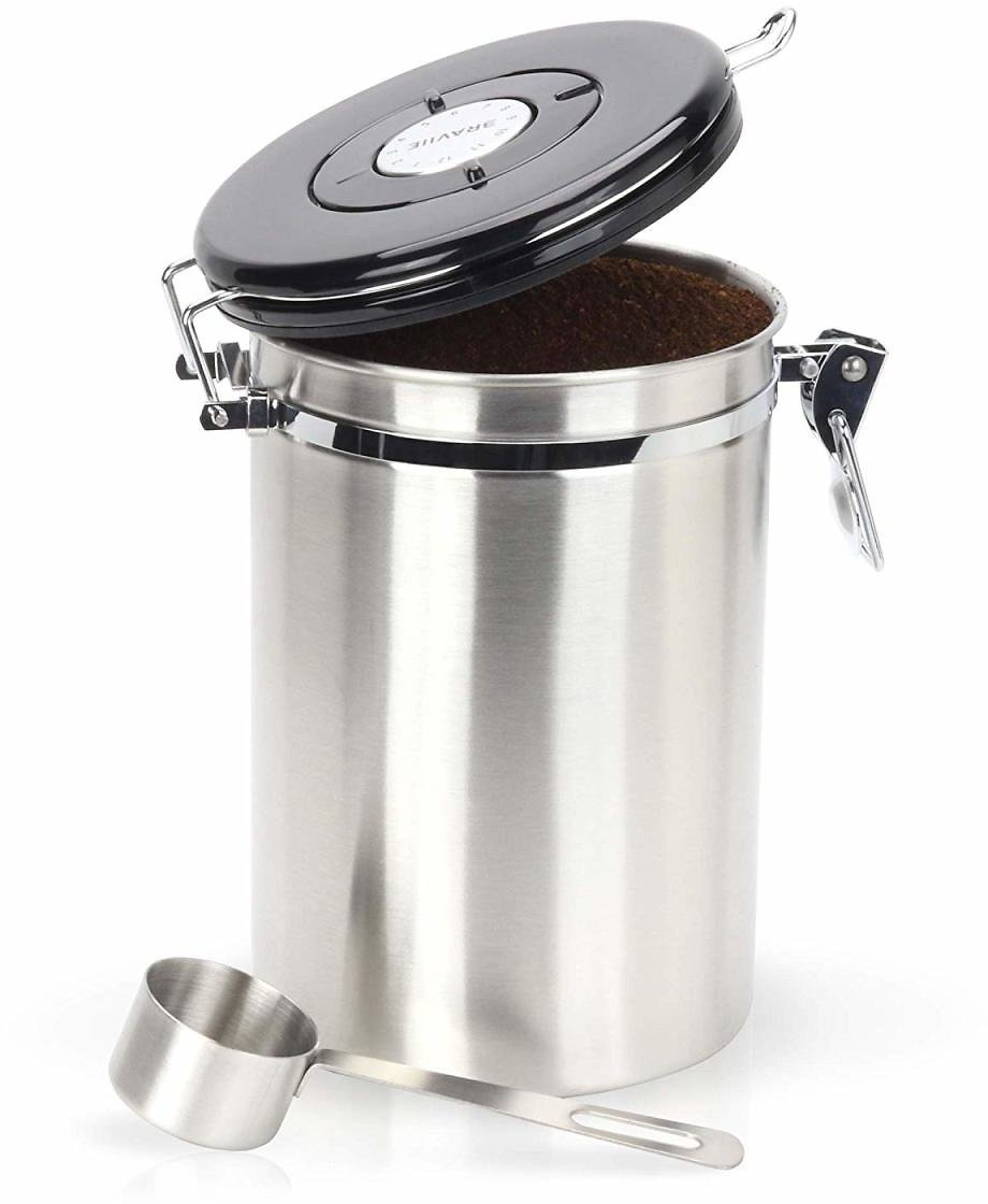 Gorgeous Coffee Canister Stainless Steel Storage Container with Scoop