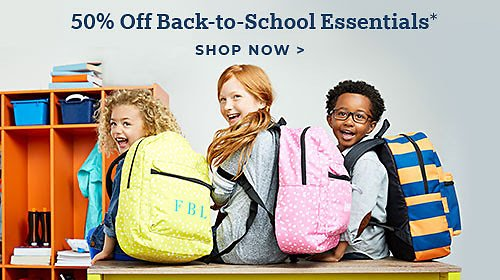50% Off Back to School Gifts & School Supplies