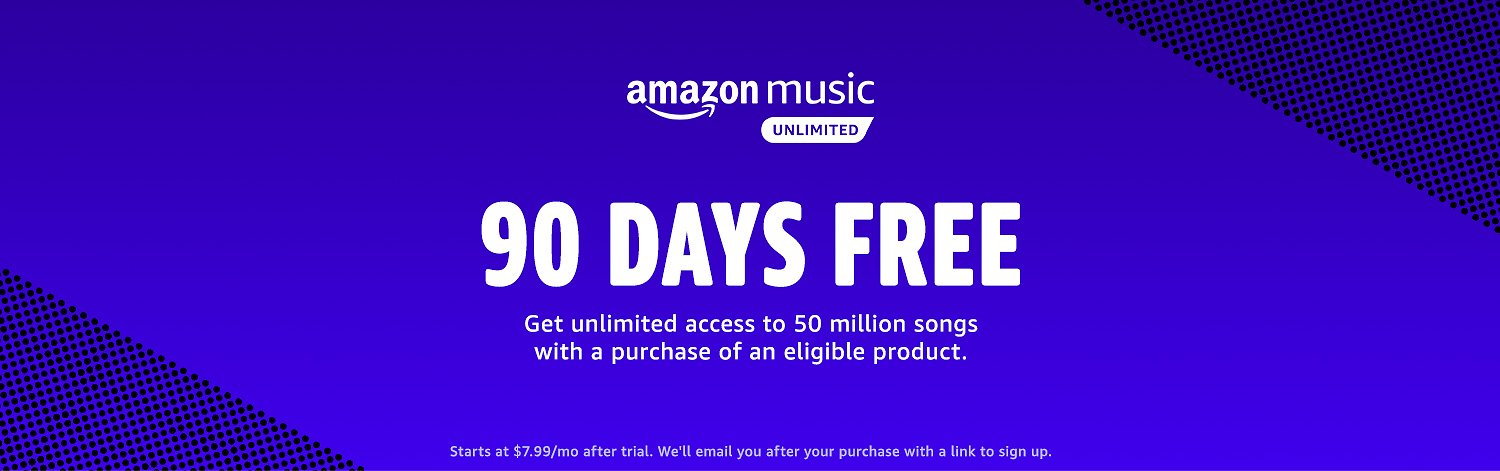 90 Days Free for Amazon Music Unlimited