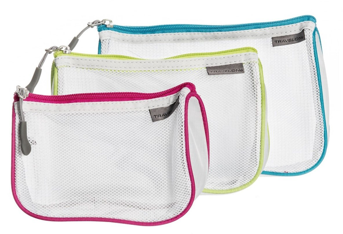 Travelon Zip Mesh Pouches - 3-Pack