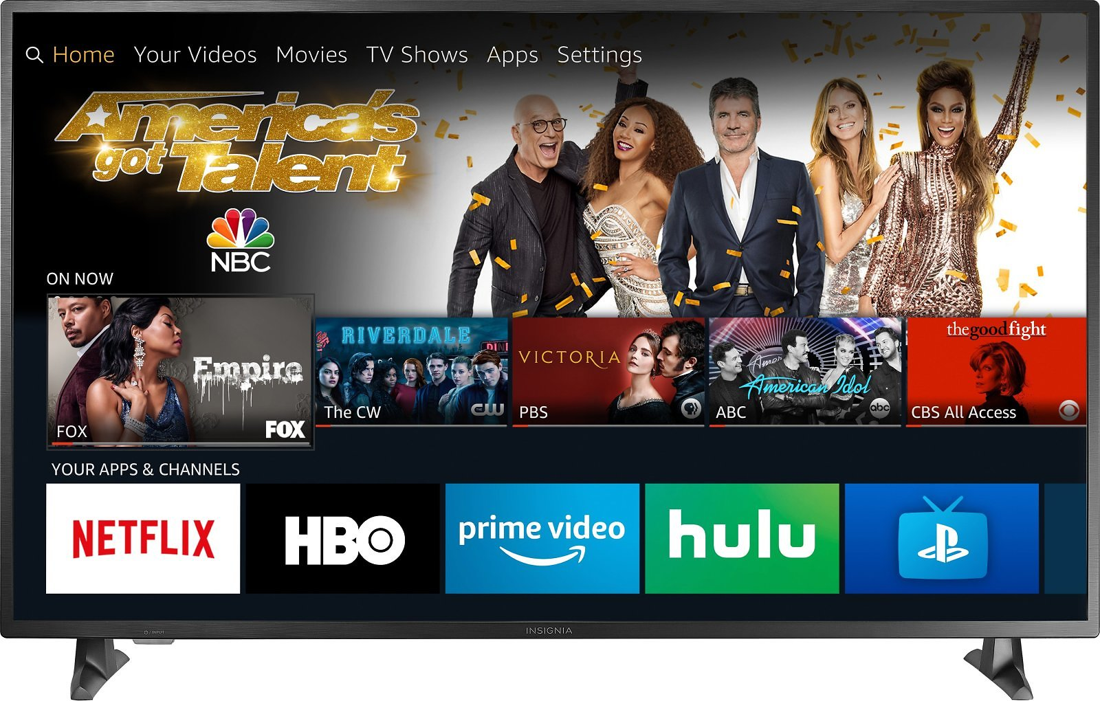 "Insignia™ 55"" Class – LED 2160p – Smart 4K UHD TV with HDR – Fire TV Edition NS-55DF710NA19"