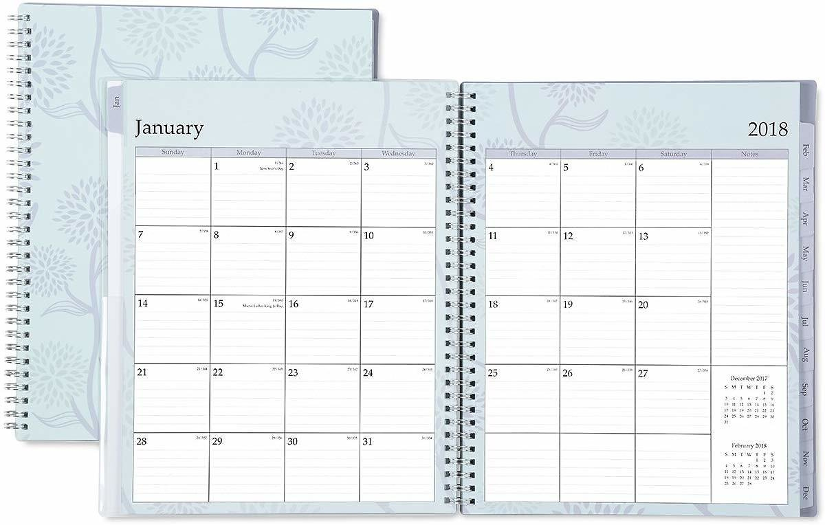 Blue Sky 2018 Weekly & Monthly Planner, Twin-Wire Binding, 8.5