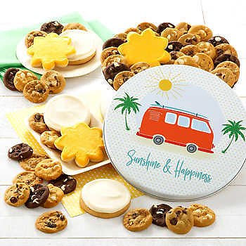 Mrs. Fields Sunshine and Happiness Cookie Tin