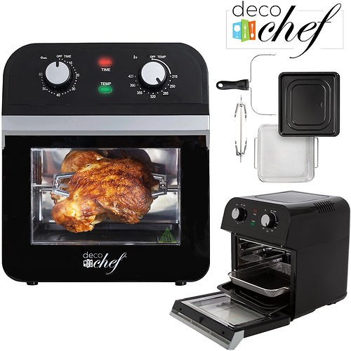 Deco Chef XL 12.7 QT Oil Free Air Fryer Convection Oven Multi-Function X-Large Capacity