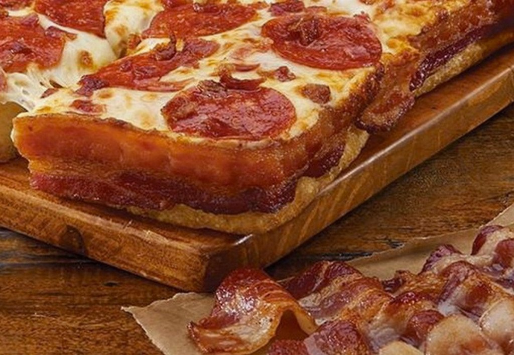 $10 Little Caesar Bacon Wrapped Deep Dish Pizza