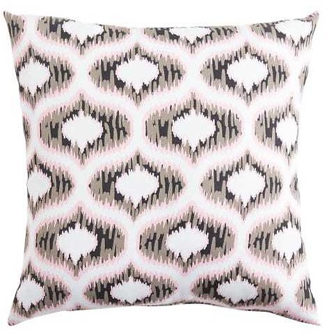 Black Ogee Etch Pillow