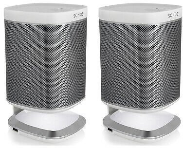 Sonos Play:1 All-In-One Wireless Streaming Speakers w/ Flexson Charging Stands