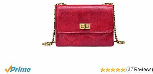 Crossbody Bags for Women UTAKE Shoulder Purse Handbags with Functional Multi Pocket Red