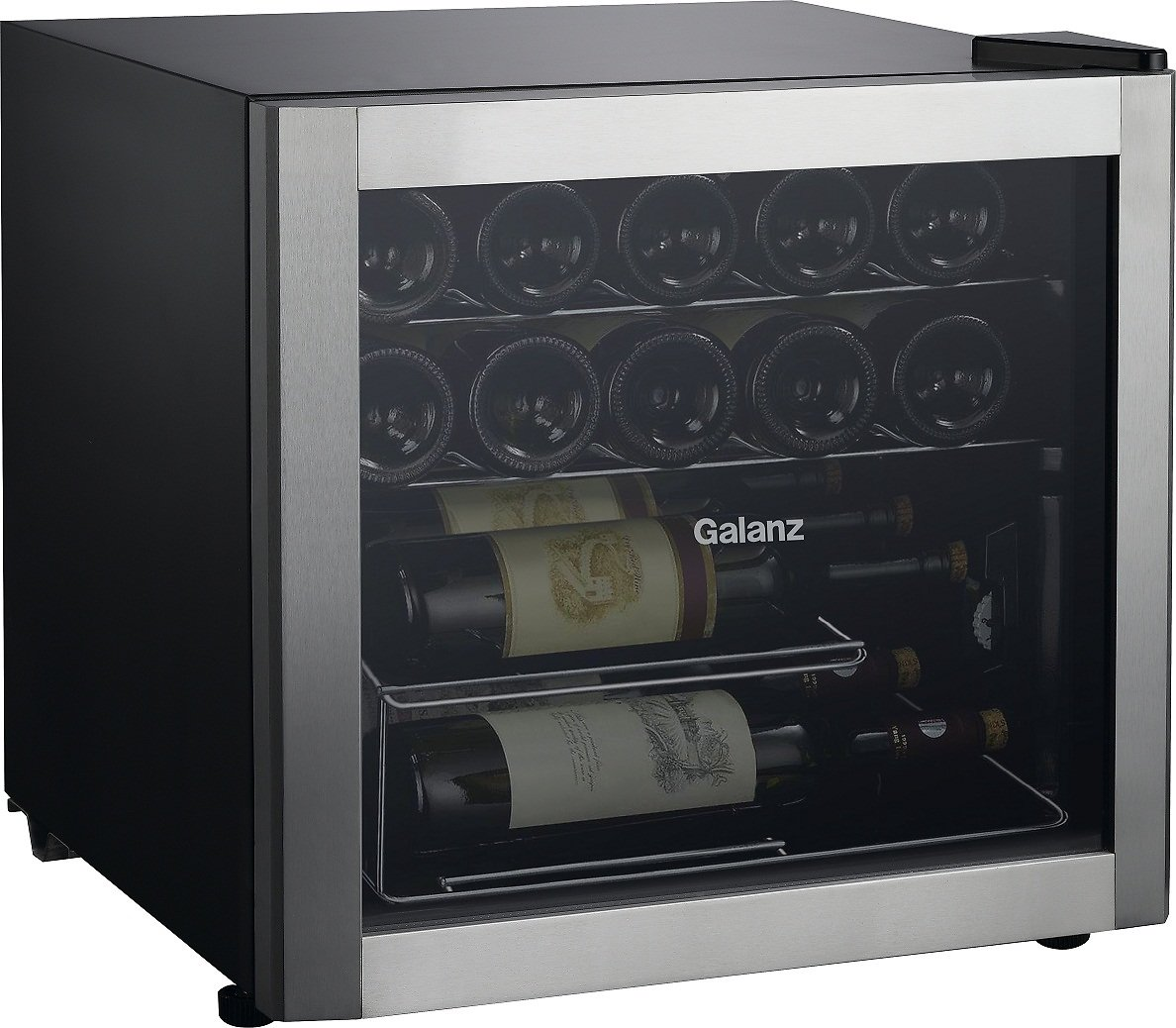 Galanz 16-Bottle Wine Cooler GLW18S, Stainless Steel Steel Do