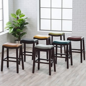 Belham Living Hutton Backless Bar Stool | Hayneedle