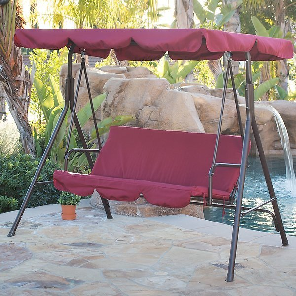 Brack Canopy Porch Swing with Stand