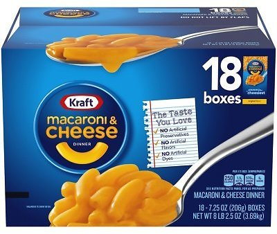 Kraft Original Macaroni & Cheese Dinner (7.25 Oz. Boxes, 18 Ct.)