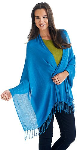 Womens Ashley Cooper™ Solid Pashmina-Style Shawl (Several Colors)