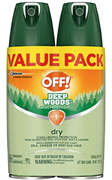 2-Ct. OFF! Deep Woods Insect Repellent VIII Dry