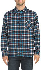 Long Sleeve Recycled Fabric Flannel Shirt - Button Downs - T.J.Maxx