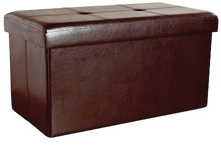 Kennedy Home Collection 16-in X 30-in Folding Storage Ottoman