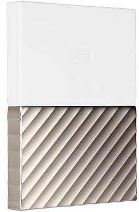 WD 2TB My Passport Ultra Portable Storage with Metal Finish USB 3.0 Model WDBFKT0020BGD-WESN White - Gold
