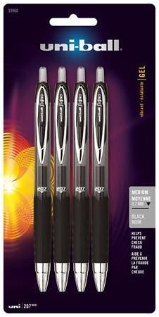 4-Pk. Uni-ball Signo Gel 207 Retractable Gel Pens (Ships Free)