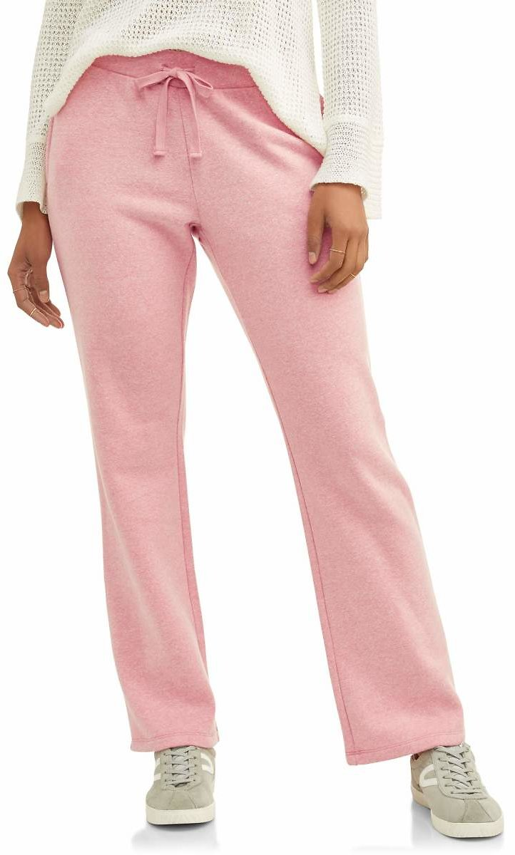 Athletic Works Women's Athleisure Fleece Pants with Front Pockets (6 Colors)