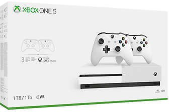 XBOX One S 1TB Bundle with 2 Controllers + 3-Month Game Pass