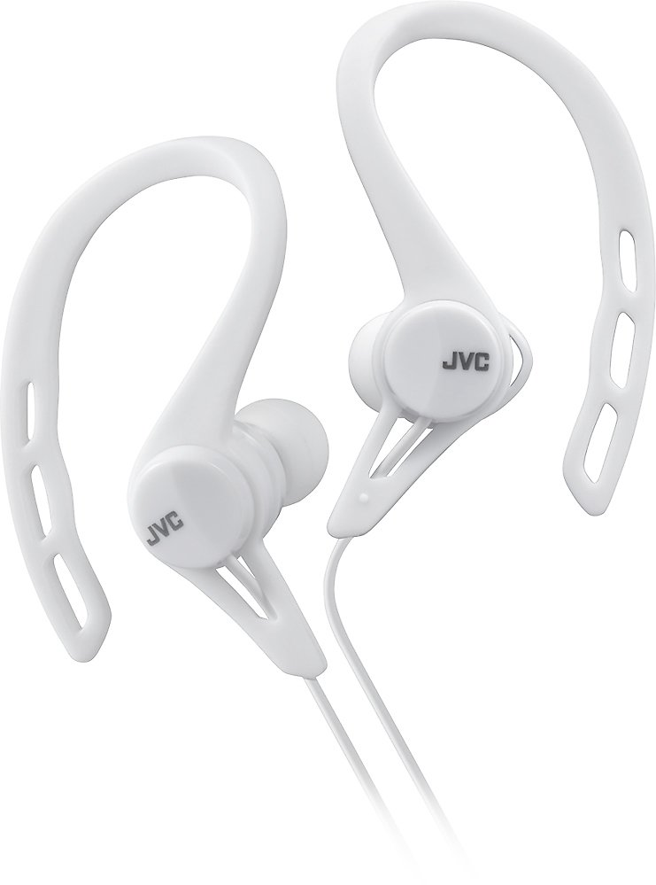 JVC Wired Ear Clip-On Earbud Headphones, White